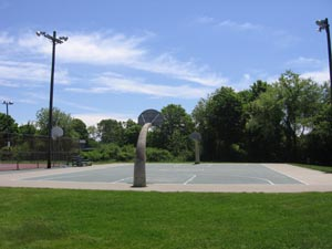 Basketball Court in a park