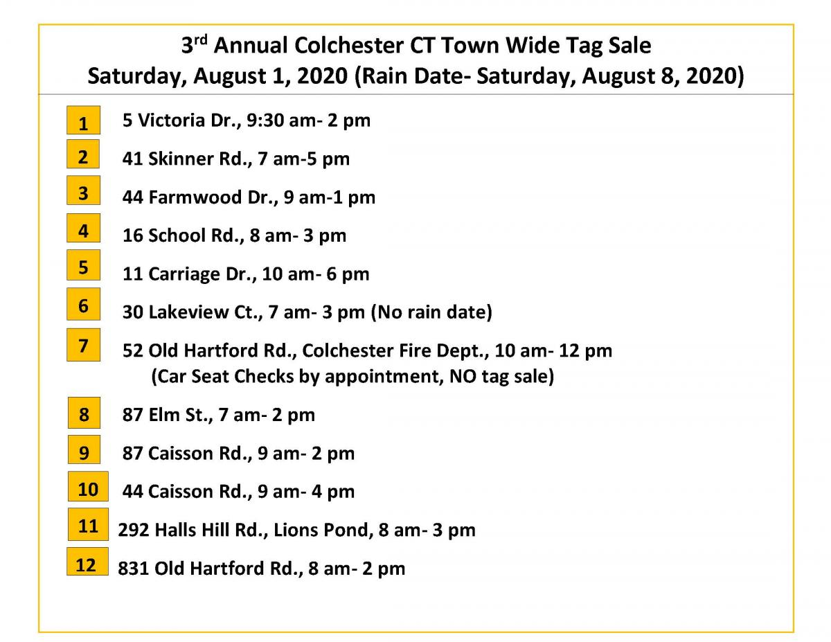 3rd Annual Town Wide Tag Sale Map page 2