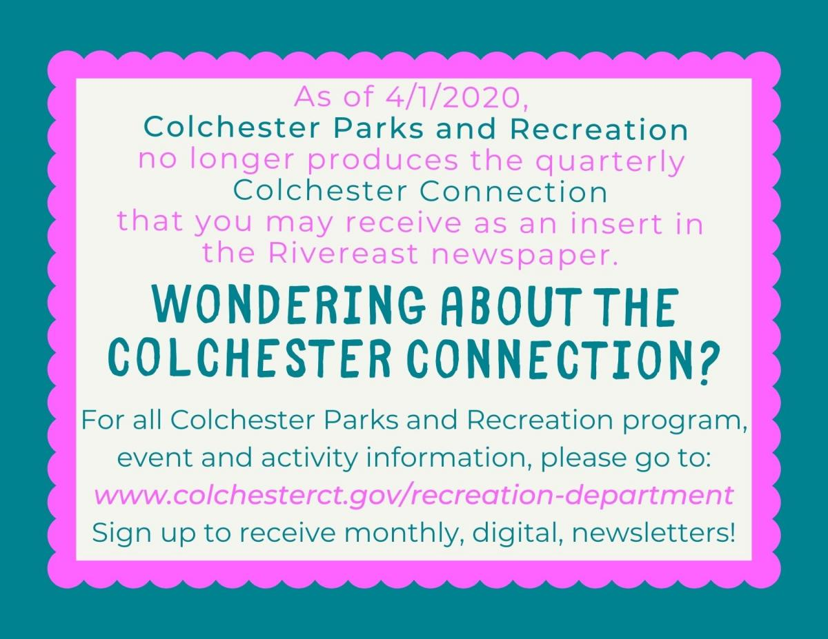 Colchester Connection Update