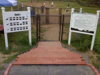 Front Gate of Colchester Dog Park